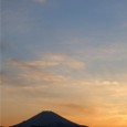 Silouette of Fuji at sunset