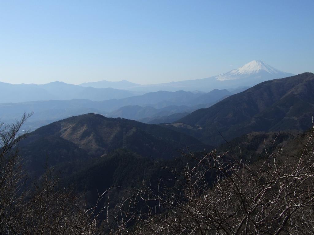 大山富士見台からの富士山