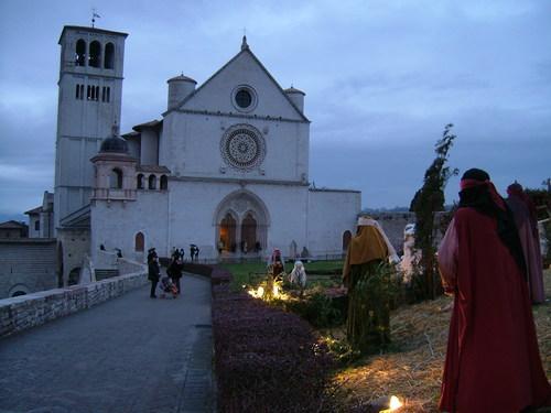 presepi e la Basilica di San Francesco