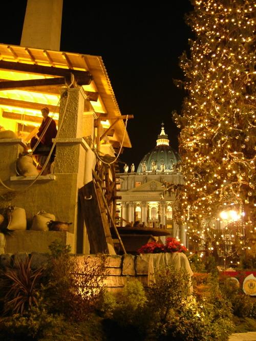 presepio, cupola di Michelangelo, albero di Natale